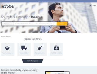infobel.com.my screenshot
