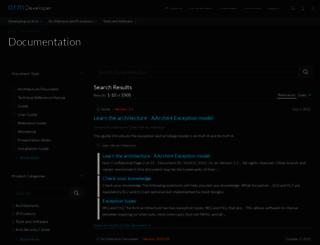 infocenter.arm.com screenshot