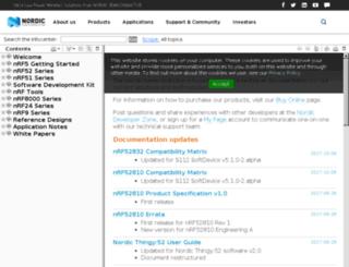 infocenter.nordicsemi.com screenshot