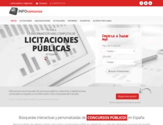 infoconcurso.com screenshot