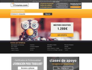 infocurso.com screenshot