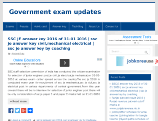 infoexamgov.in screenshot