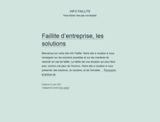 infofaillite.fr screenshot