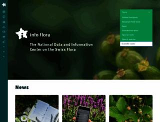 infoflora.ch screenshot