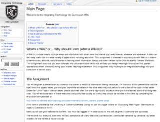 infolitwiki.rio.edu screenshot