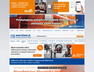 infoma.sk screenshot