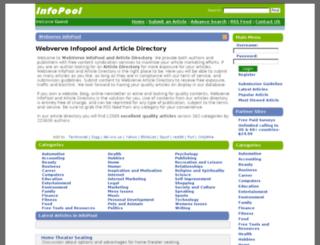 infopool.webverve.com screenshot