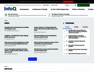 infoq.com screenshot