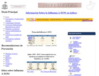 informacioninfluenza.jalisco.gob.mx screenshot