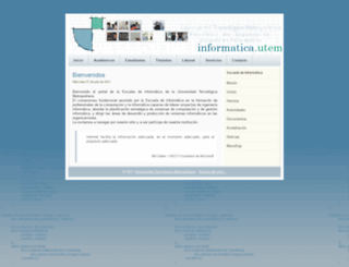 informatica.utem.cl screenshot