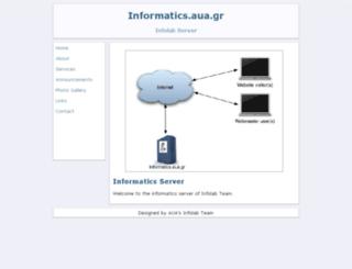 informatics.aua.gr screenshot