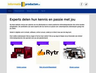 informatieproducten.nl screenshot