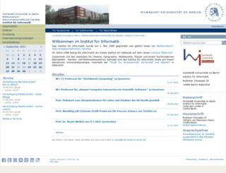 informatik.hu-berlin.de screenshot