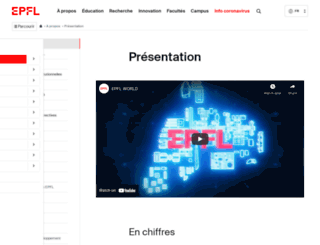 information.epfl.ch screenshot