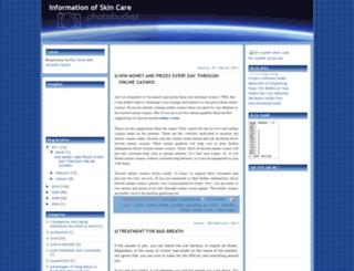 informationofskincare.blogspot.com screenshot