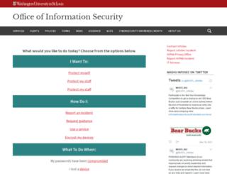 informationsecurity.wustl.edu screenshot