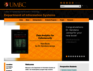 informationsystems.umbc.edu screenshot