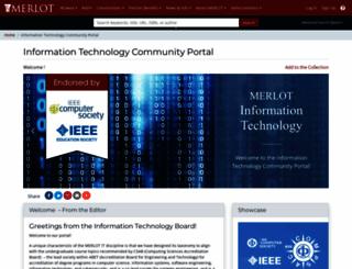 informationtechnology.merlot.org screenshot