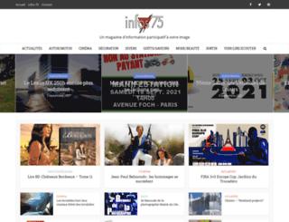 infos-75.com screenshot