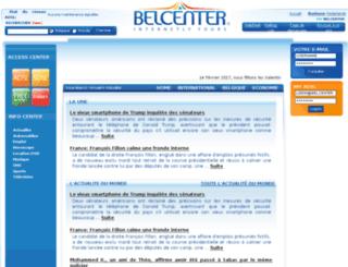 infos.belcenter.com screenshot