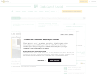 infos.gazette-sante-social.fr screenshot
