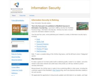 infosec.westfieldinsurance.com screenshot