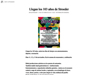 infostroeder.blogia.com screenshot