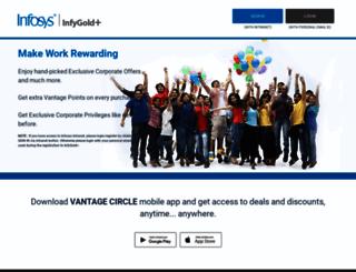infosys.vantagecircle.com screenshot