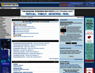 infotoday.com screenshot