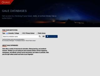 infotrac.galegroup.com screenshot