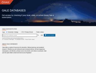 infotrac.galenet.com screenshot
