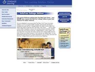 infotrac.thomsonlearning.com screenshot