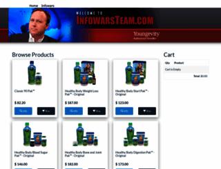 infowarsteamshop.com screenshot