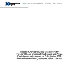 infrastructurecapital.com.au screenshot