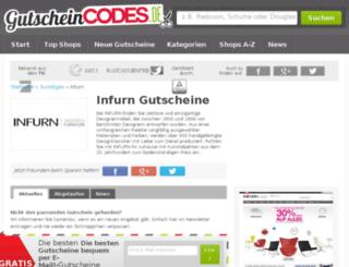 infurn.gutscheincodes.de screenshot