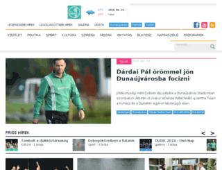 ingatlan.dunaujvaros.com screenshot