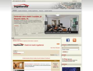 ingatlandia.hu screenshot
