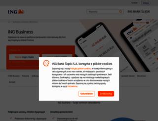 ingbusinessonline.pl screenshot
