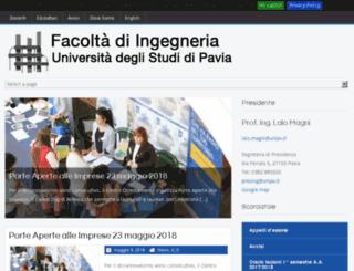 ingegneria.unipv.it screenshot