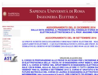 ingelettrica.uniroma1.it screenshot