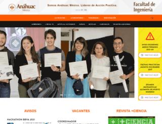 ingenieria.anahuac.mx screenshot