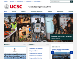 ingenieria.ucsc.cl screenshot