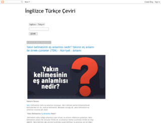 ingilizceturkcenedemek.blogspot.com screenshot