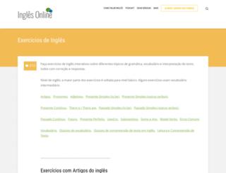 inglesonline.com.br screenshot