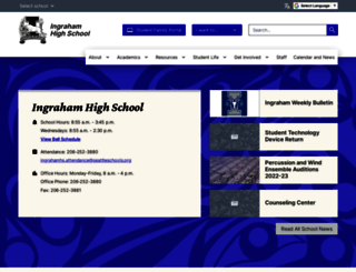 ingrahamhs.seattleschools.org screenshot