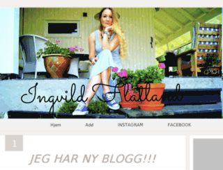 ingvildflatland.blogg.no screenshot