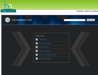 inhomedecor.com screenshot