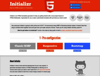 initializr.com screenshot