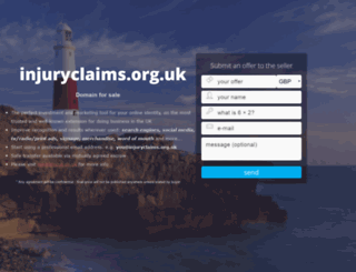 injuryclaims.org.uk screenshot