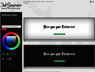inkgenerator.com screenshot